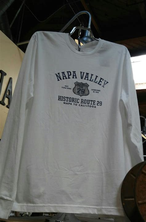 napa valley route  long sleeve shirt  shipping