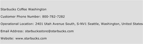 starbucks customer service phone number starbucks coffee washington customer service number toll