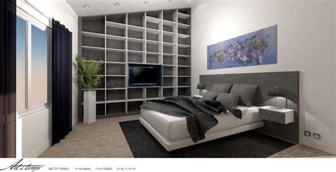 chambre architecte chambre adulte avec rangement tete de lit tete de lit