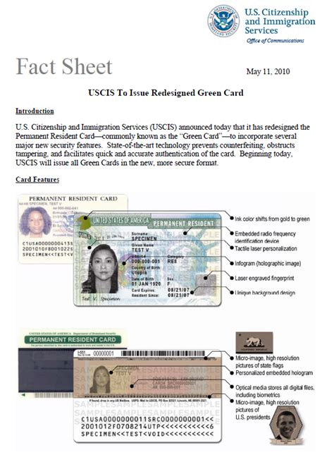 u s citizenship and immigration services permanent resident green card authenticity guide
