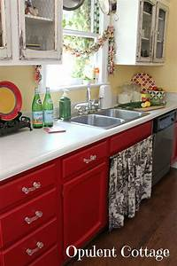 i like the red kitchen cabinets but i don39t get the With kitchen colors with white cabinets with red poppy wall art