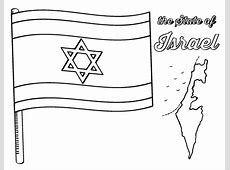 Free Israel Flag Coloring Page