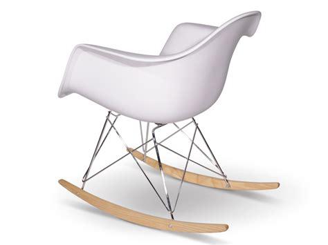 eames rocking chair rar blanc