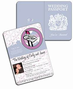 passport invitations With paris las vegas wedding invitations