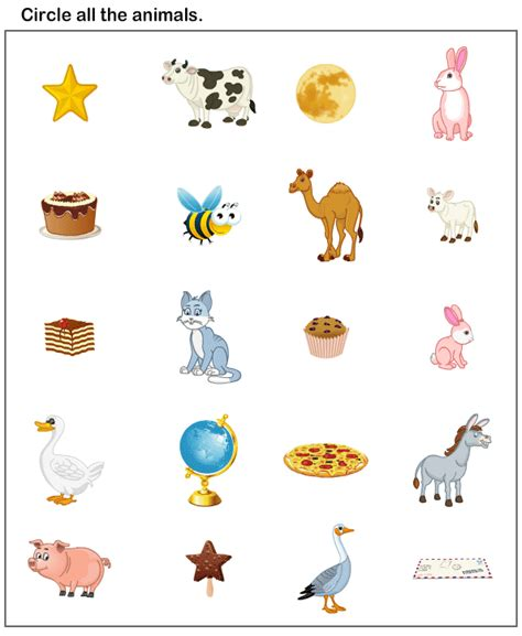 preschool worksheets animals worksheets preschool