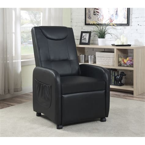 recliner with wheels single recliner with wheels black h37 40 quot