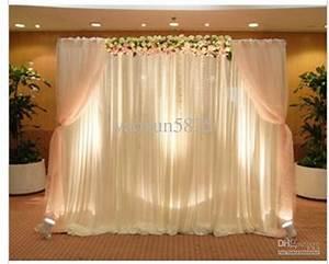 Hot sale white color wedding backdrop drape curtain for for Backdrop decoration for wedding