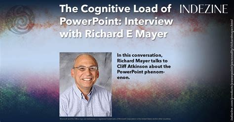 cognitive load  powerpoint interview  richard