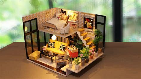 miniature dollhouse diy kit mini cute wooden toy house