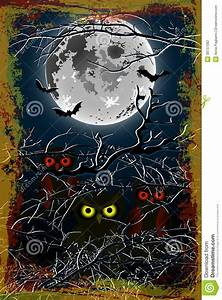 Halloween Owl Moon Background Stock Vector - Image: 38737082