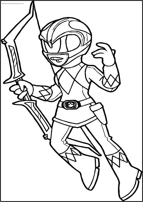 Power Ranger Printable Coloring Pages Picture Of Super