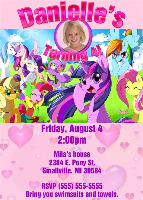 pony birthday invitations drevio