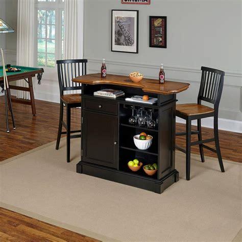 home styles americana 3 black and oak bar table set