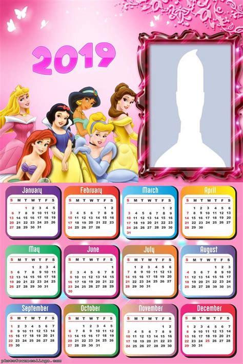 calendario  de las princesas disney  imprimir