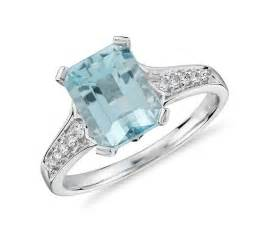 aquamarine and engagement rings aquamarine and ring in 14k white gold 9x7mm blue nile