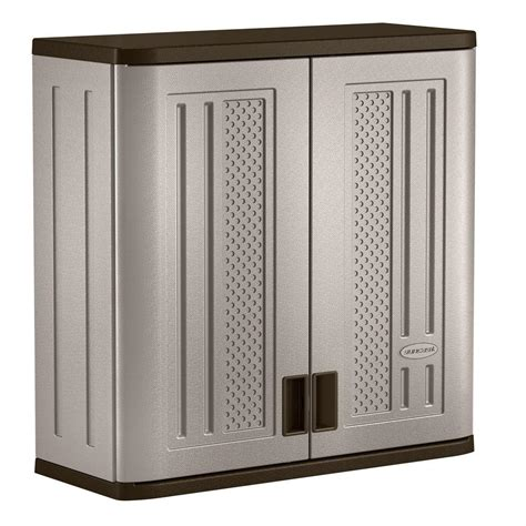 Suncast Outdoor Storage Cabinets With Doors by Suncast 30 In X 30 25 In 1 Shelf Resin Wall Storage