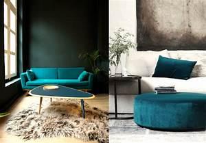 Couleur Bleu Canard Deco : deco salon canap bleu canard recherche google salon home decor house design et interior ~ Melissatoandfro.com Idées de Décoration