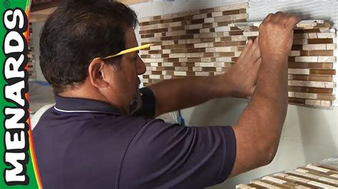 Metal Kitchen Backsplash Ideas - tile backsplash how to install menards youtube