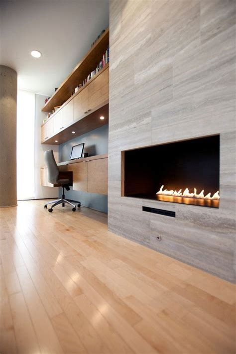 image result  contemporary linear fireplace tile