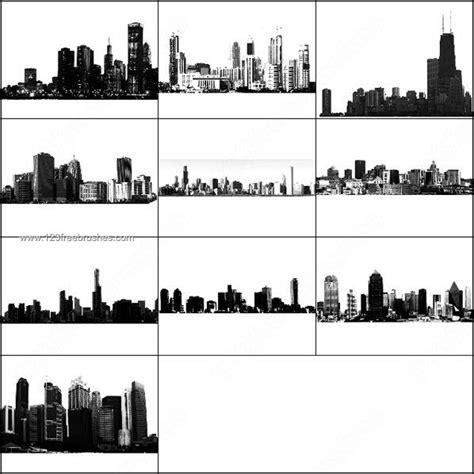 City Skyline Building Brushes Photoshop  Photoshop Free