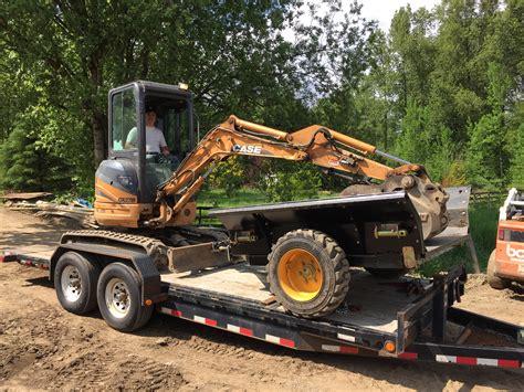 excavator dump trailers idm