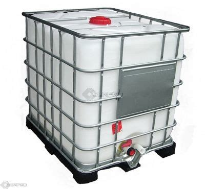 ibc tank 1000 liter reconditioned ibc storage tank on plastic pallet