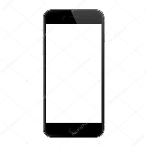iphone blank screen bangkok thailand dec 7 2015 realistic iphone 6 blank