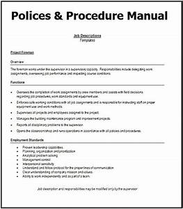 7  Policies And Procedures Manual Templates