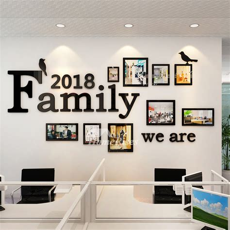 family wall decals photo frame acrylic living room  home