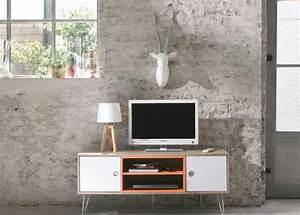 Meuble De Télé Conforama : adoptez un meuble en couleur joli place ~ Teatrodelosmanantiales.com Idées de Décoration