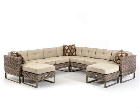 beige outdoor sectional sofa set 44p218 set