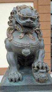 Japanese KARAJISHI Shishi Lion Foo Dog Statue Okimono ...