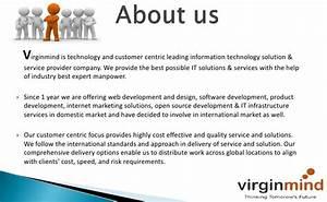 web development company virginmind technologies company With information technology company profile template