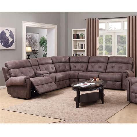 reclining sectional sofas happy leather company 1378 power reclining sectional with