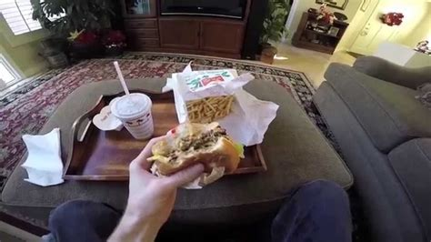 Eating In N Out Burger (First Person View) - YouTube
