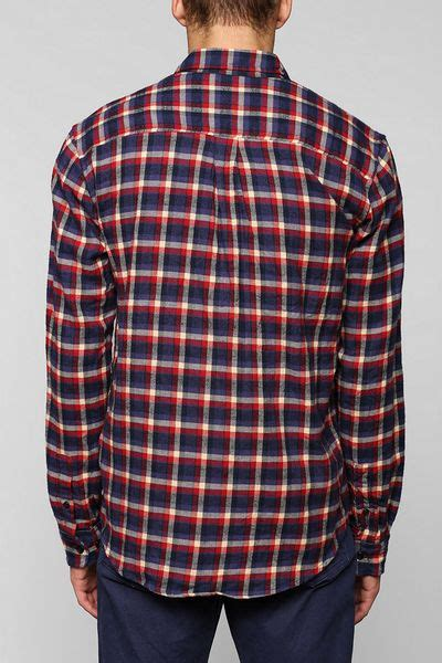 urban outfitters stapleford plaid button  flannel