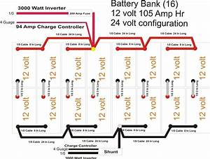 Advice Needed On 24 Volt Battery Bank Diagram Included