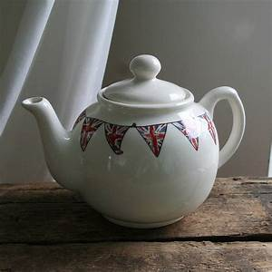 union jack bunting english teapot by sweet william designs ...
