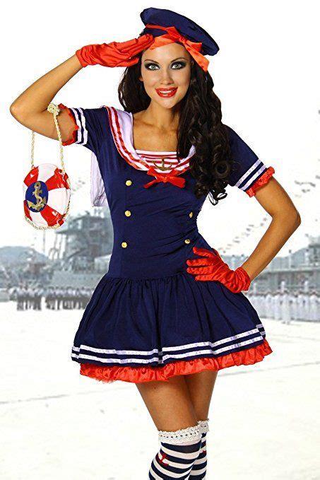 matrosin kostüm damen selber machen karneval mottoparty s 252 sses marine kost 252 m blau rot wei 223 fasching karneval kost 252 me motto