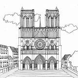 Paris Notre Dame Pages Cathedral Coloring Taj Mahal Printable Adult Stress Drawing Projet Chocobo Game Coloriages Colouring Anti Dessin Categories sketch template