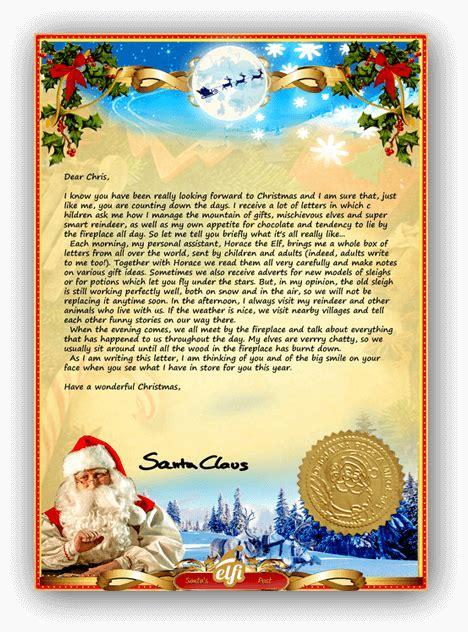 letter  santa  personalised santa letter
