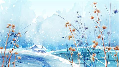 Anime Winter Scenery Wallpaper - nature anime winter scenery background wallpaper