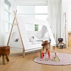 Zelt Bett Kinder : abenteuerbett spielbett tipi kiefer wei lackiert 90x200cm g nstig online kaufen ~ Sanjose-hotels-ca.com Haus und Dekorationen