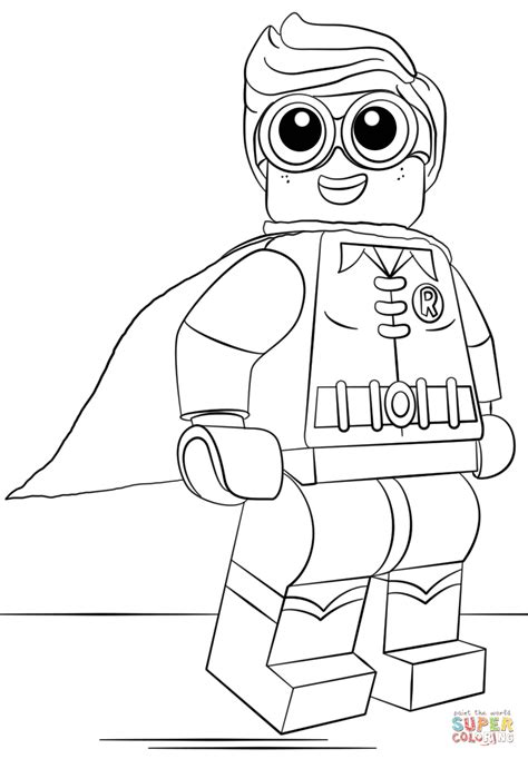Batman And Robin Coloring Pages Lego Robin Coloring Page Free Printable Coloring Pages