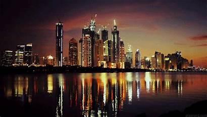 Cinemagraph Night Lights Gifs Urban Dubai Skyline
