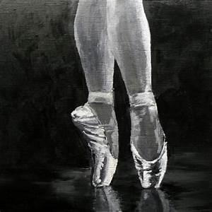 """""""Ballet Slippers"""" - dancer, toe shoes, satin slippers ..."""