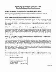 Graduate Student Resume High School Graduation Certification Form California