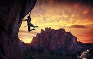 Mountain Climbing Desktop Wallpaper