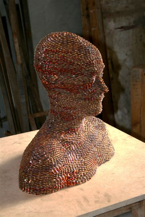 stacked sculpture sculptures made from stacked and welded euros colossal