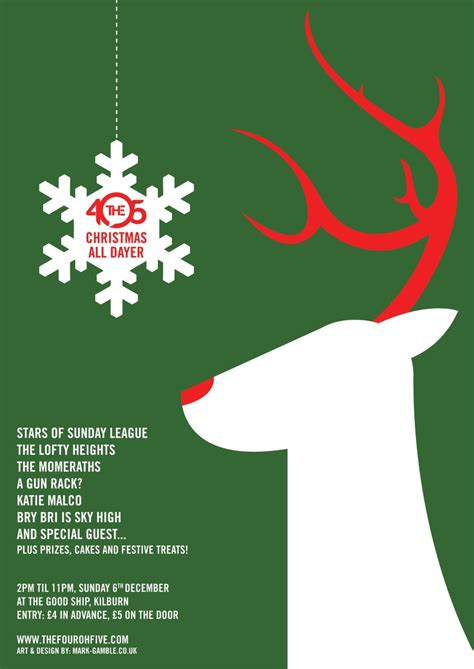 modern christmas poster festival collections